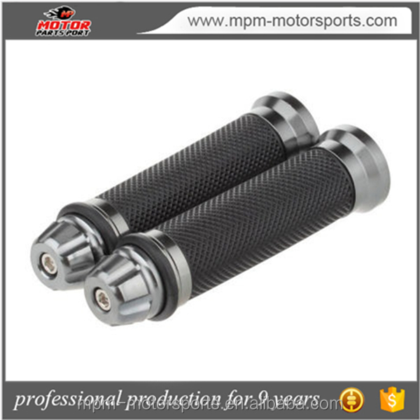 "Custom 7/8"" CNC Aluminum Motorcycle Rubber Handle Grips for Kawasaki"