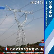 330KV Hot dipped galvanized tubular tower/self supporting steel towe