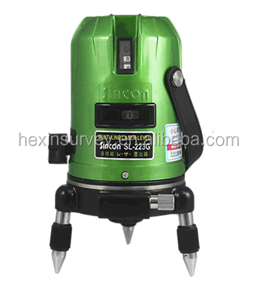 Sincon SL-223G Green horizontal vertical crossline laser level