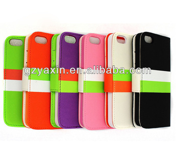 Newest leather case for iphone 5 case, leather pouch slip case for iphone 5