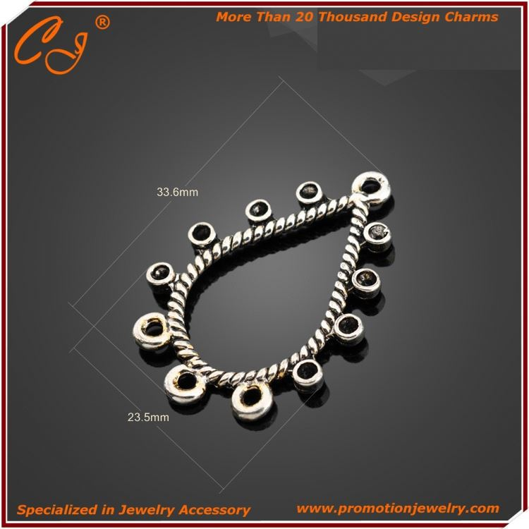 stainless steel biker jewelry wholesale Button Connector for shoes Yiwu Supplier from Yiwu Jewelry