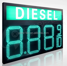 2years warranty led gas price sign with REGULAR DIESEL for gas station