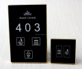 Electronic Hotel Doorplate with whole system DND MUR Doorbell