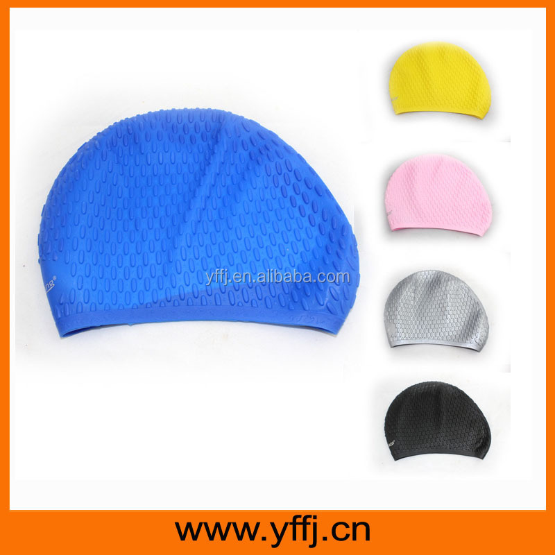 waterproof silicone rubber swim cap