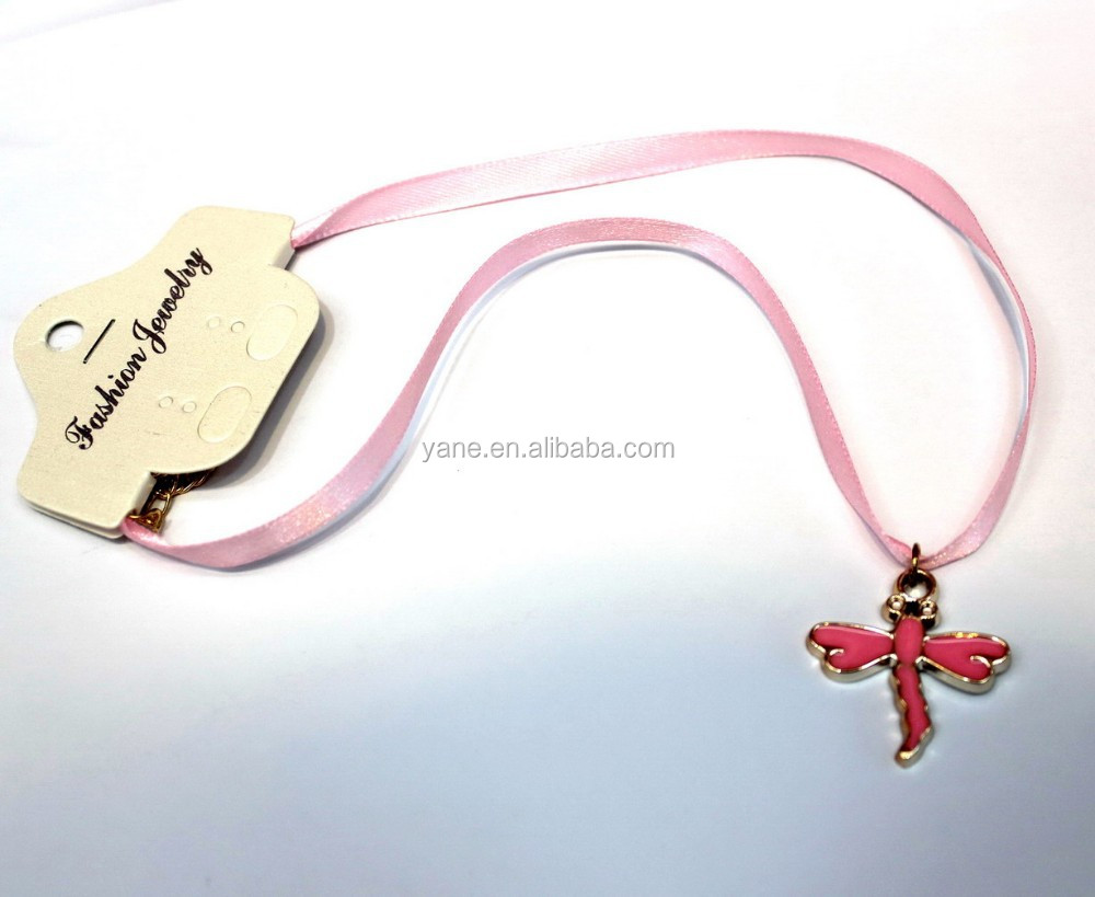 Plastic cross charm and Ribbon Fashion boys cross necklace
