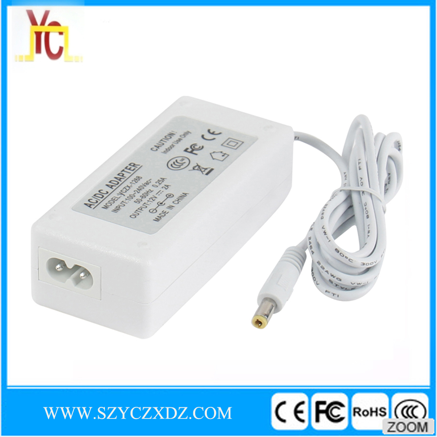 AC/DC white switching Power supply 12V 2A 24W LED light HP laptop