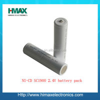 2000mah rechargeable battery nicd 1.2v sc size ni-cd battery