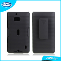 Low MOQ belt clip mobile phone case for Nokia lumia 930 stripe pattern
