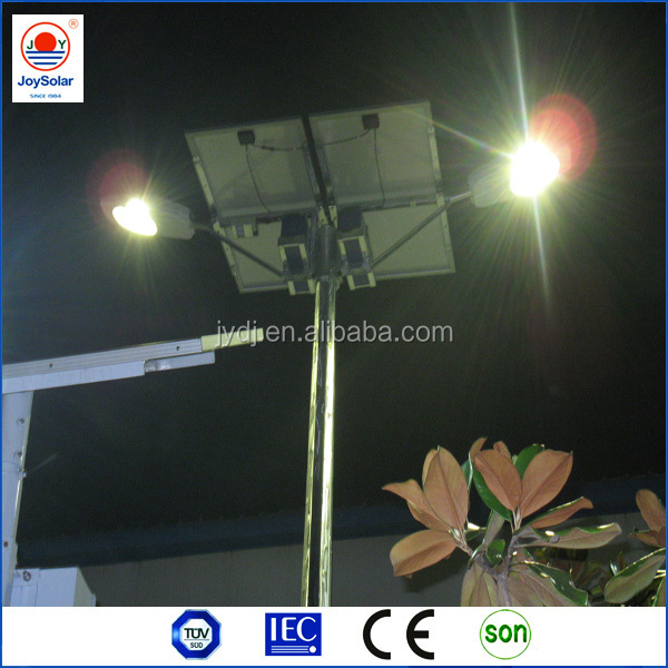 autonomy/rainy days backup high bright led solar street light 65w from joysolar