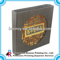 Fancy paper custom cardboard packaging box with silk insert