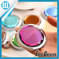 Compact mirror in stock,Promotional mirror for makeup,Round metal Pocket Mirror