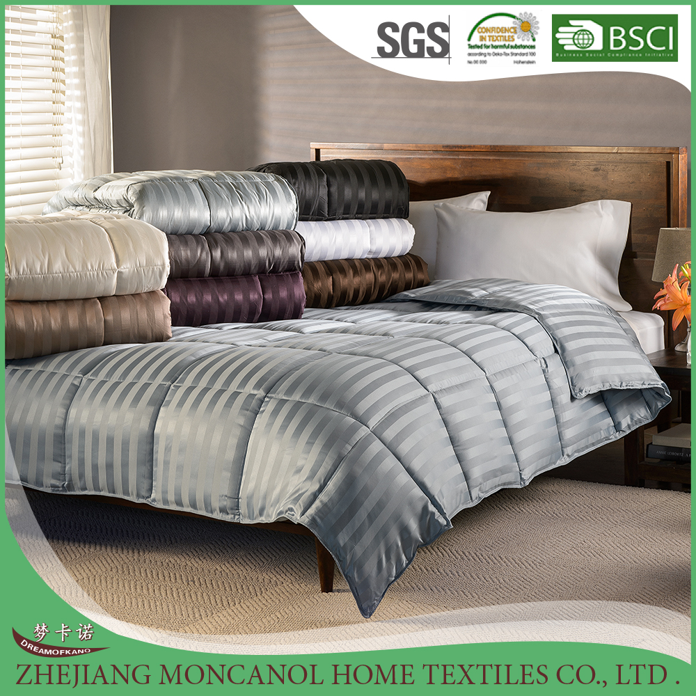 All Season Luxurious Striped Down Alternative Polyester Comforter