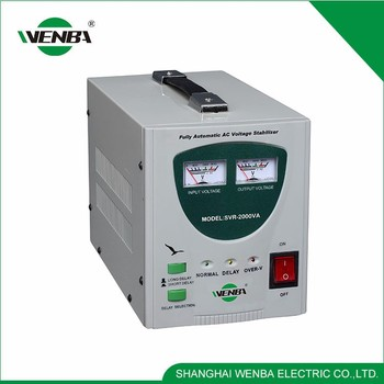 Modern Design High Efficiency Multipurpose Servo Type Automatic Voltage Stabilizer 2000Va