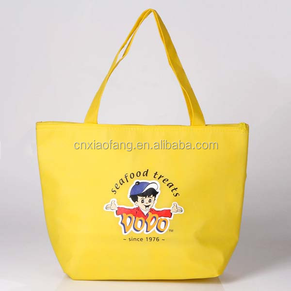 Tote style promotional nonwoven cheap price thermo bag for shopping