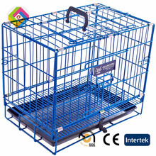 Alu dog cage with thick folds