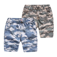 MS75166B Kids boys camouflage printed beach shorts