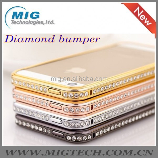 new Pproduct Hot Bling Diamond crystal AL metal bumper case for apple iphone 5S, for iphone case China Supplier 4 colors