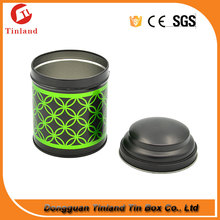 Decorative Round Tea Tin Box Cylindrical Tin Can For Tea