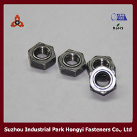 stainless steel aluminum hex din standard weld nuts