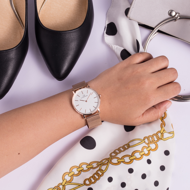 Manufacturer Supplier geneva rose gold tone watch of China