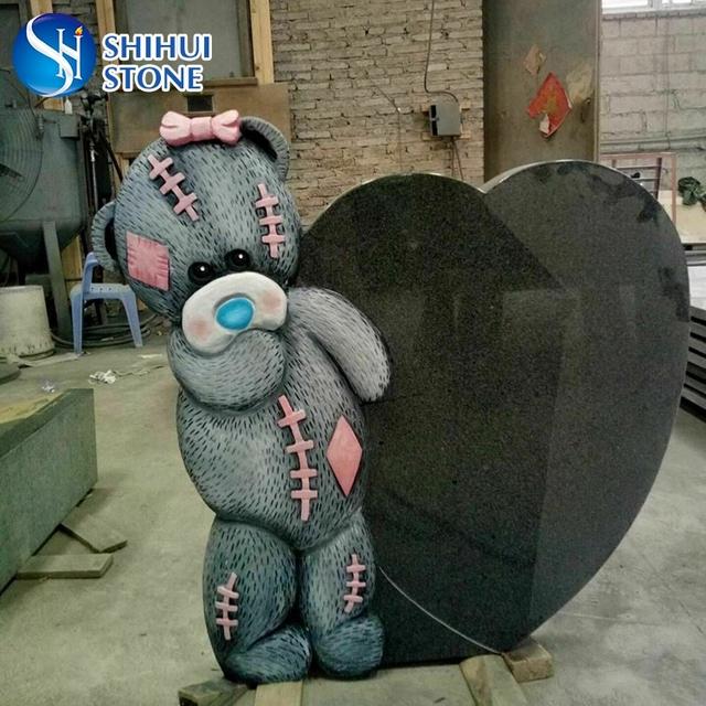 Popular Design Teddy Bear Headstone For Child
