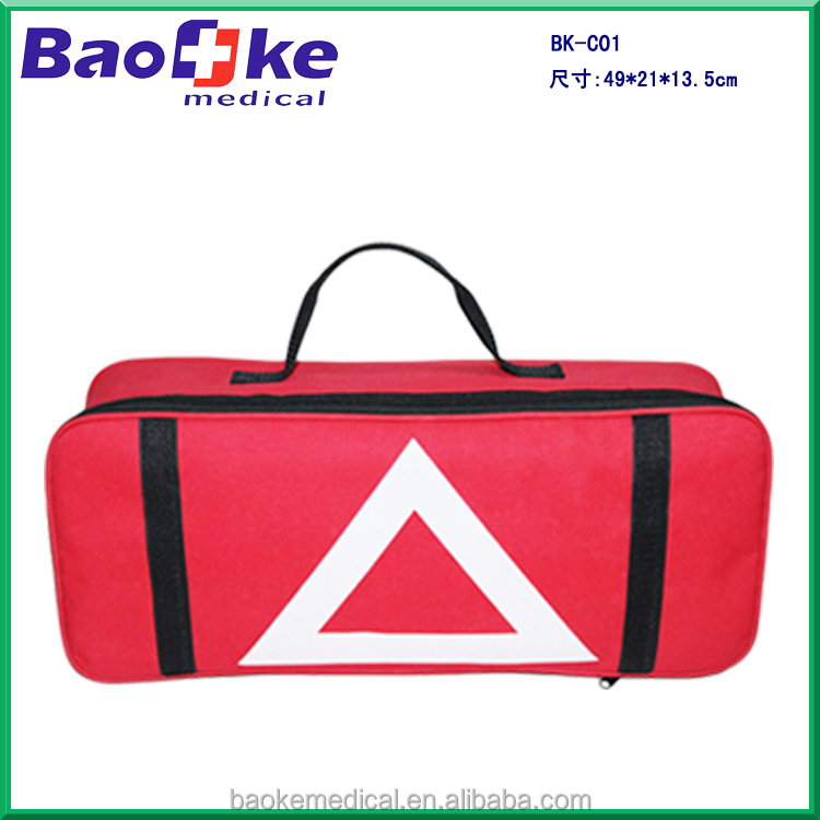 BK-C01 Large Emergency Accident Auto First Aid Kit For Car with Safety Vest, Life Hammer, Jumper Cable