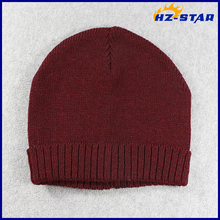 HZM-16270013 fashion knitted beanie ladies' winter caps and hats
