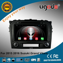 ugode 9 inch android HD touch screen car audio for suzuki grand vitara 2016 double din car stereo