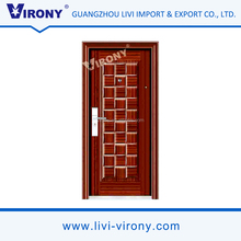 High quality control fancy front door wrought steel single entry doors