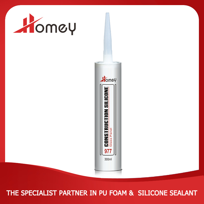 Homey 977 black acetoxy structural silicone glass sealant for all purpose