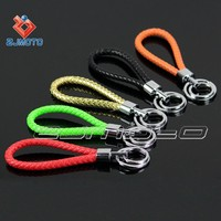 Fashion style black color Leather Strap motorcycle Keyring Keychain Key Chain Ring Key Fob