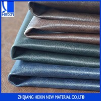 Hot selling oily crazy horse effect synthetic leather for casual shoes and boot shoes