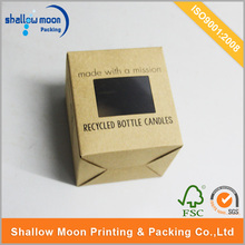 Corrugated cardboard gift box for bee wax packing with PVC clear window