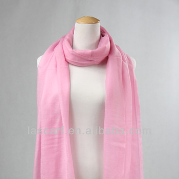 fashion warm pink color lady wool wrap