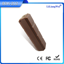 New product chocolate bars 2600mah portable wooden power bank