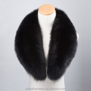 High End Custom Size Long Fox Fur Collar 90 cm