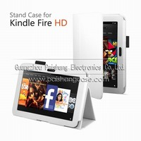 Tablet PC foldable leather cover case for Amazon Kindle Fire HD7