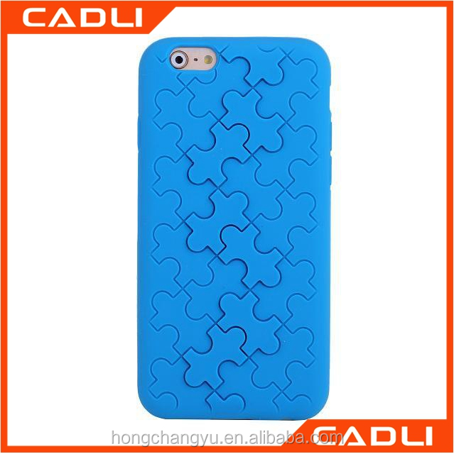 New design mobile phone bumper silicon puzzle phone case for iPhone 6