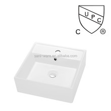 SN109-019 CUPC small size square ceramic bathroom sink