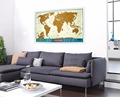 Scratch off World Map Travel Tracker - Europe Close-up; USA States Outlined; Kids Educational Poster; Traveler Accessory