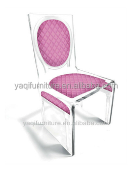 Acrylic elegant silk screen chair used tables and chairs for sale