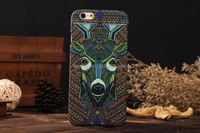 2015 Stylish Night light cell phone case animal factory make plastic hard case for iphone 6 plastic case china price