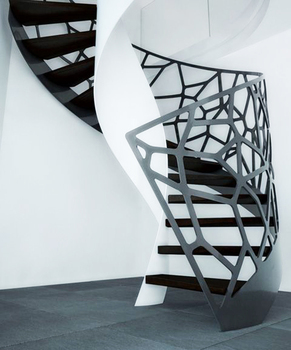 Prima Professionally prefabricated modern spiral wrought iron stairs railing