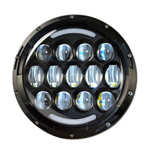 7inch 78W Harley motorcycle led driving light used for Jeep Wrangler auto Driving Fog Lamp Headlight bikes