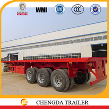 3 axle flatbed trailer type 40ft container transporter for sale