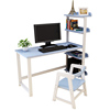 Desktop computer table and chair bedroom study desk with storage rack