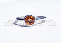 GWR 52 Sterling Silver 925 Rectagle Shape Coloured Gemstone Ring