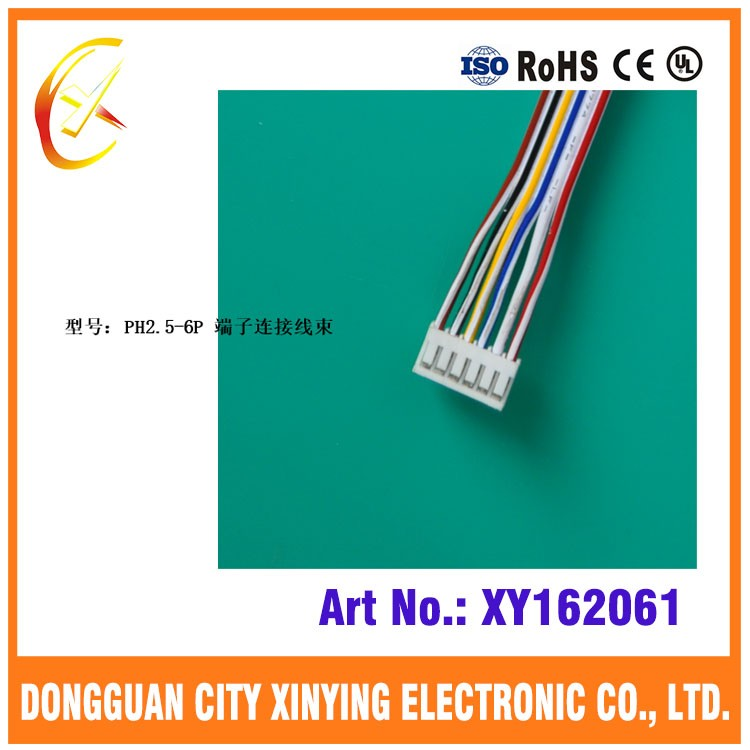 Oem Jst Ph 2.0mm 2.5mm Pitch 6 Position Wire Harness With Pvc Ribbon ...