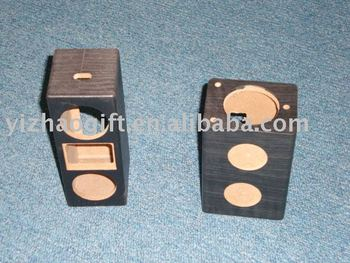 wholesale beautiful wooden mini sound box speaker
