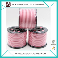 Pink leather cord 2.6mm flat leather suede cord